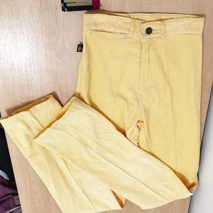 Vtg 80's DEADSTOCK High Waisted Yellow Cords